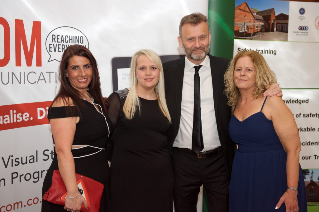 CHSG Awards Dinner with CHSG staff and Hugh Dennis