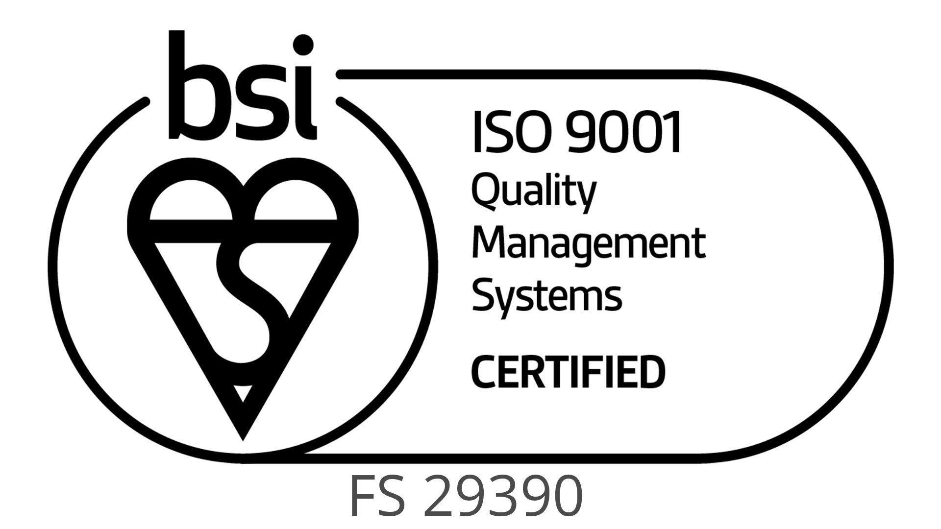 BSI logo including centre number